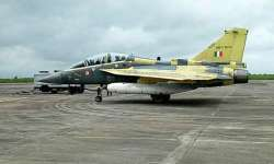 The Tejas Light Combat Aircraft at Bhopal Airport on Aug- India Tv