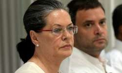 File pic of Sonia and Rahul - India Tv