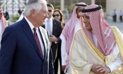 Secretary of State Rex Tillerson speaks with Saudi Foreign