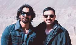 Luv Sinha along with Paltan co-star Harshvardhan Rane