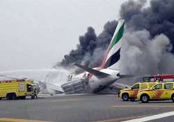 Crash-landing of Emirates plane in Dubai