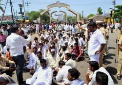 Farmers at a protest in Maharashtra demanding loan waiver