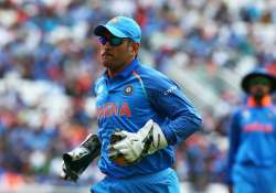 MS Dhoni of India during the ICC Champions Trophy match