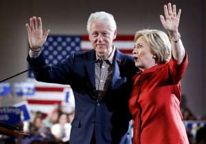 Hillary Clinton with former President Bill Clinton- India Tv