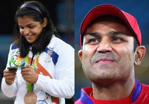 Sakshi Malik asks Virender Sehwag to meet her- India Tv