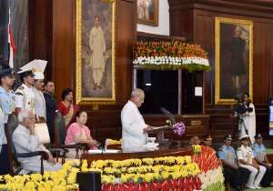 President Mukherjee's farewell function was held in Central- India Tv