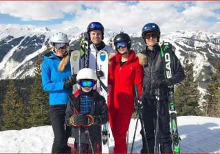 Ivanka Trump skiing with family - India TV