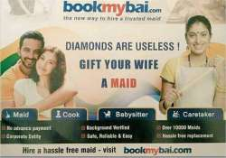 bookmybai sexist ad for online maid service sparks row