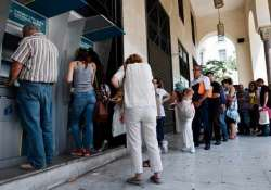greece anxious pensioners swarmed closed bank branches