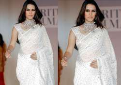 neha dhupia does a cameo in klpd wearing a saree