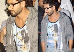 spotted shahid kapoor with a bikini clad lady over him see