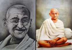 exclusive range of paintings as tribute to gandhi