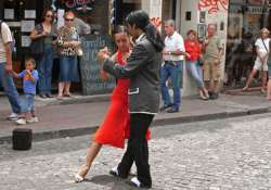 hundreds of couples tango on streets of buenos aires