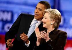 obama lauds hillary clinton as she prepares to leave