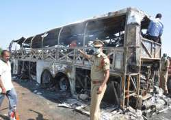 ap govt sets up panel to probe bus fire
