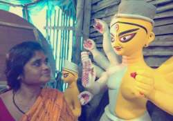 kolkata installs india s first transgender durga idol
