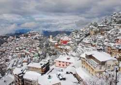 shimla rejoices with season s first heavy snowfall