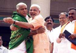 yeddyurappa rejoins bjp says he want to see modi become pm