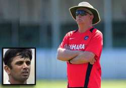 give fletcher time and space to produce results dravid