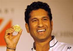 gold coins bearing sachin s face signature launched