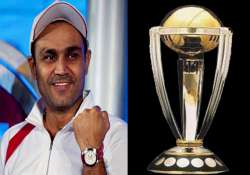 sehwag unveils icc world t 20 trophy in indore