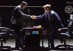 anand makes easy draw but carlsen closer to title