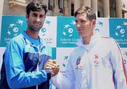 davis cup serbia jump to 1 0 lead against india