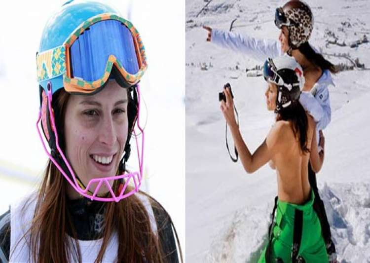 lebanese olympian skier goes topless probe ordered by sports minister- India Tv