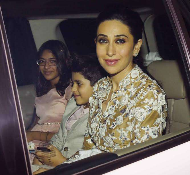 Karisma Kapoor stunned everyone when she appeared in embroidered beige outfit. The gorgeous actress may have received good points from the fashion police.