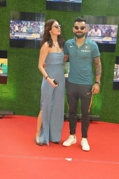 Actress Anushka Sharma and Virat Kohli once again made headlines as they attended the premiere together. The star player went for a casual look whereas the gorgeous lady donned a greyish outfit.