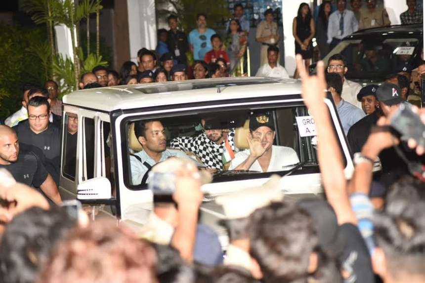 Escorted in a thick security blanket out of the Chhatrapati Shivaji Maharaj International Airport around 2 a.m., he was quickly whisked off to St. Regis Hotel.