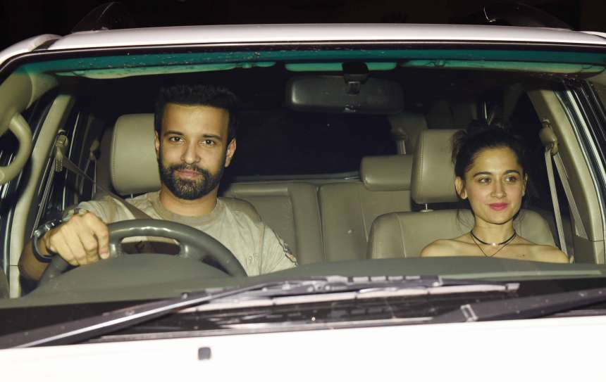 Indian television actor, Amir Ai, was also spotted at the screening with his actress-wife Sanjeeda Sheikh.