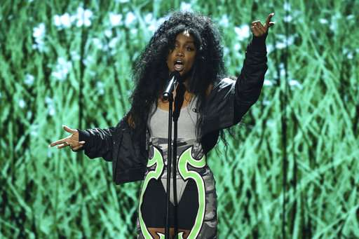 SZA performs Love Galore at the BET Awards at the Microsoft Theater on Sunday.