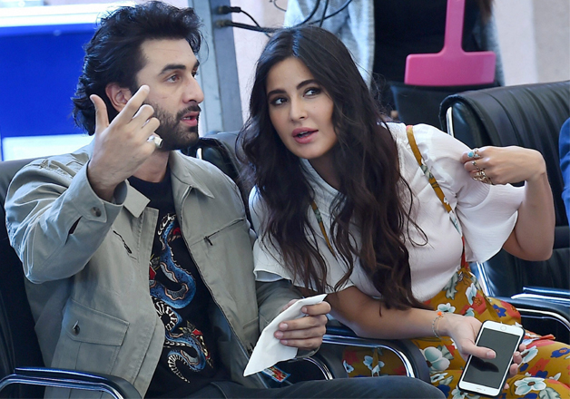 Jagga Jasoos stars and ex-flames Katrina and Ranbir were spotted having some cosy time during the promotions of their forthcoming film at Ryan Public School in New Delhi.