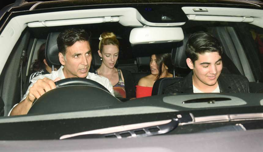 Akshay Kumar along with his Toilet Ek Prem Katha star Bhumi Pednekar and his son Aarav attended the special screening of the film.