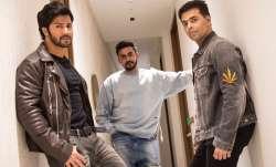 Varun Dhawan, Karan Johar and Shashank Khaitan