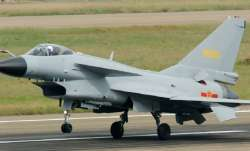 Chinese J-10 jet fighter are attached to an aviation