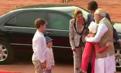 PM Modi receives Canadian PM Justin Trudeau and his family