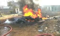 Indian Navy aircraft crashes in Gujarat's Porbander.