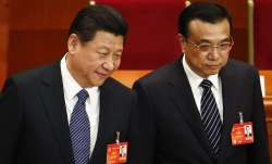 China's Prime Minister Li Keqiang with President Xi