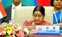External Affairs Minister Sushma Swaraj at SCO Summit in