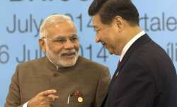 PM Narendra Modi with  Chinese President Xi Jinping. (File