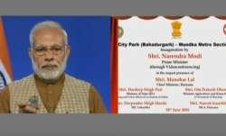 PM Modi inaugurates Mundka-Bahadurgarh Metro corridor: 'New