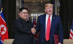 North Korean leader Kim Jong Un along with US President