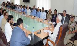 Governor Narinder Nath Vohra reviewed a wide range of