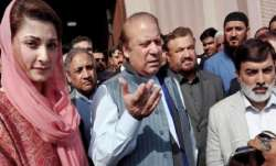 Nawaz Sharif and his daughter Maryam Nawaz