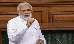 Prime Minister Narendra Modi speaks in the Lok Sabha on