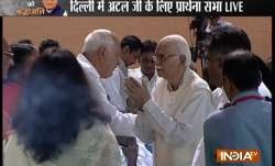 Alvida Atal | All-party prayer meeting in Delhi: LK Advani,
