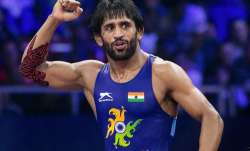 Bajrang Punia in action during the World Championship final