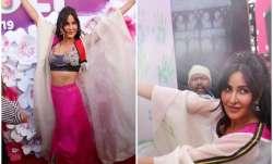 Bollywood actress Katrina Kaif was snapped at Holi